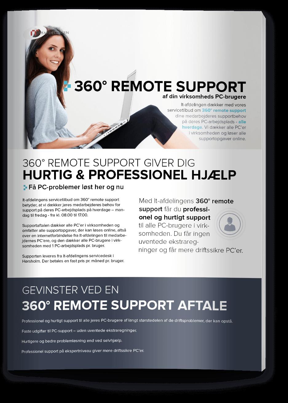 Layout og design af IT Afdelingens produktblad remote support