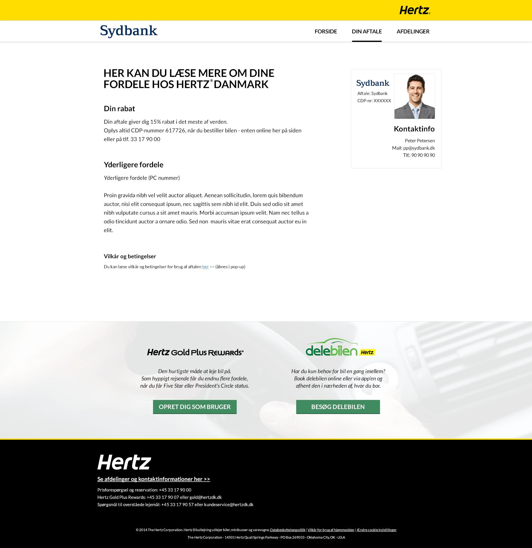 Hertz din aftale - MBR site webdesign