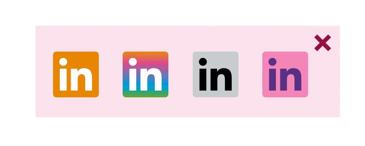 LinkedIn logo guidelines