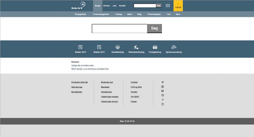 Skat.dk - redesign af hjemmeside
