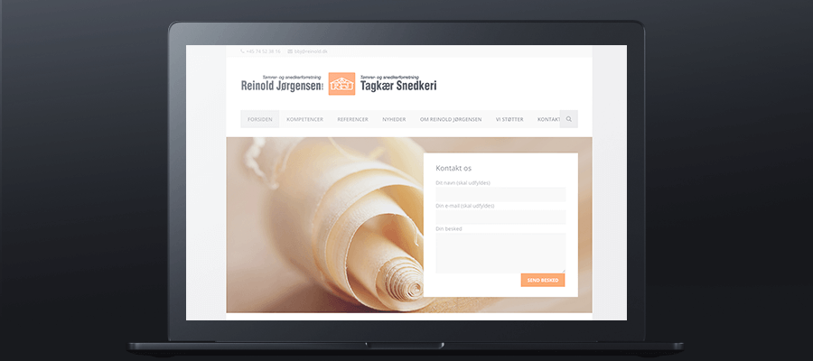 Reinold Jørgensens forside website