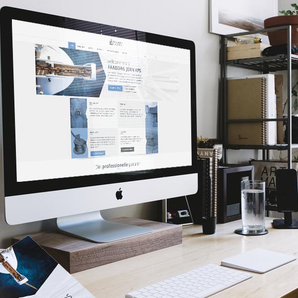 faaborg jern webdesign og brochure
