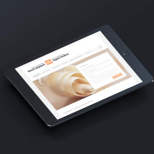 Reinold Jørgensen hjemmesidedesign Wordpress