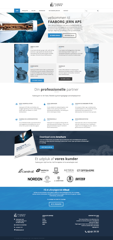 Webdesign faaborg-jern.dk forside