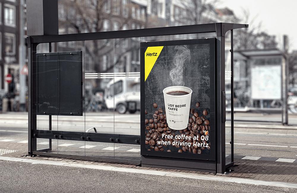 Free Coffeee - Hertz Billboard