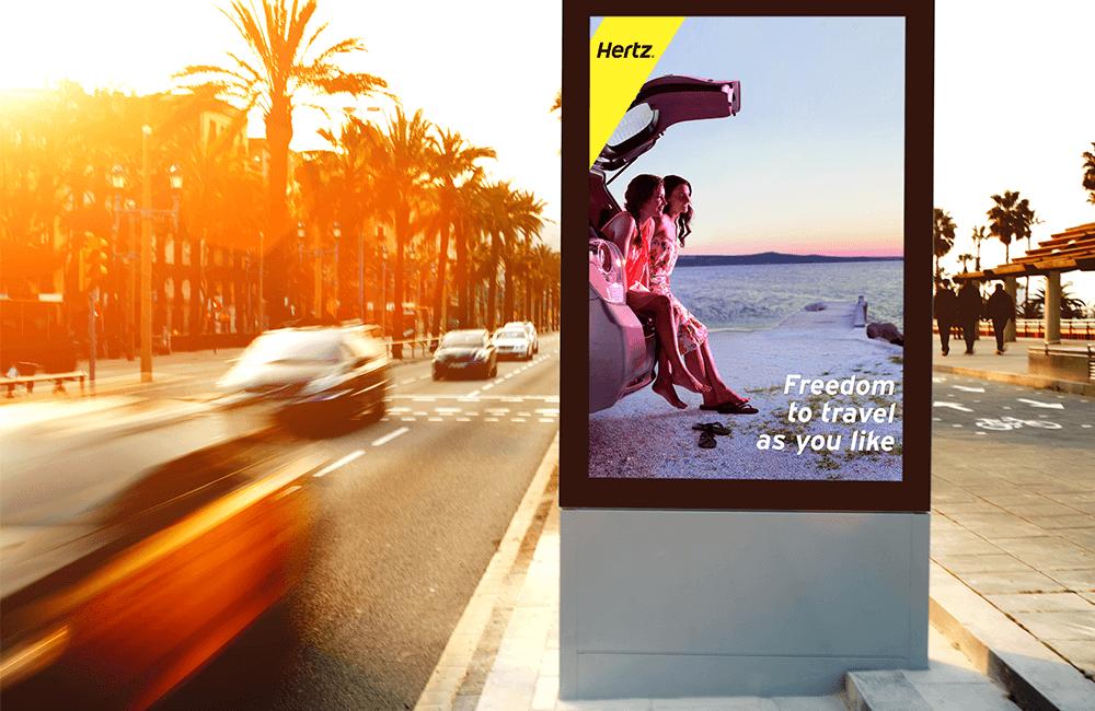 Freedom to Travel - Hertz billboard