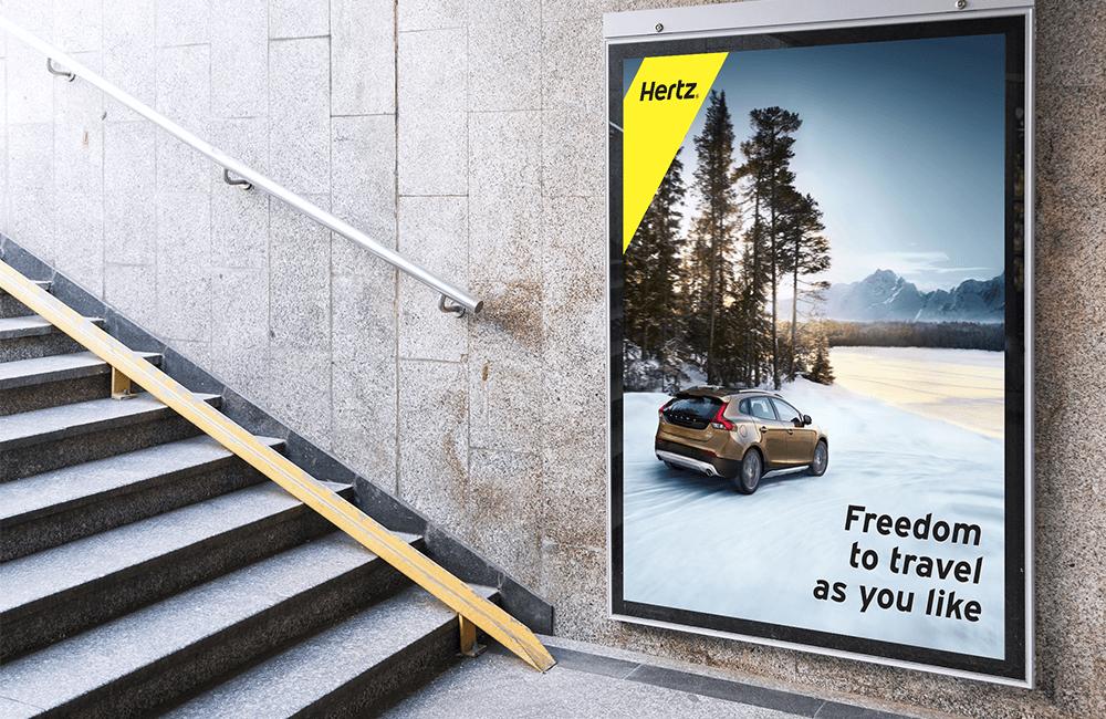 Freedom to Travel ver. 2 - Hertz billboard