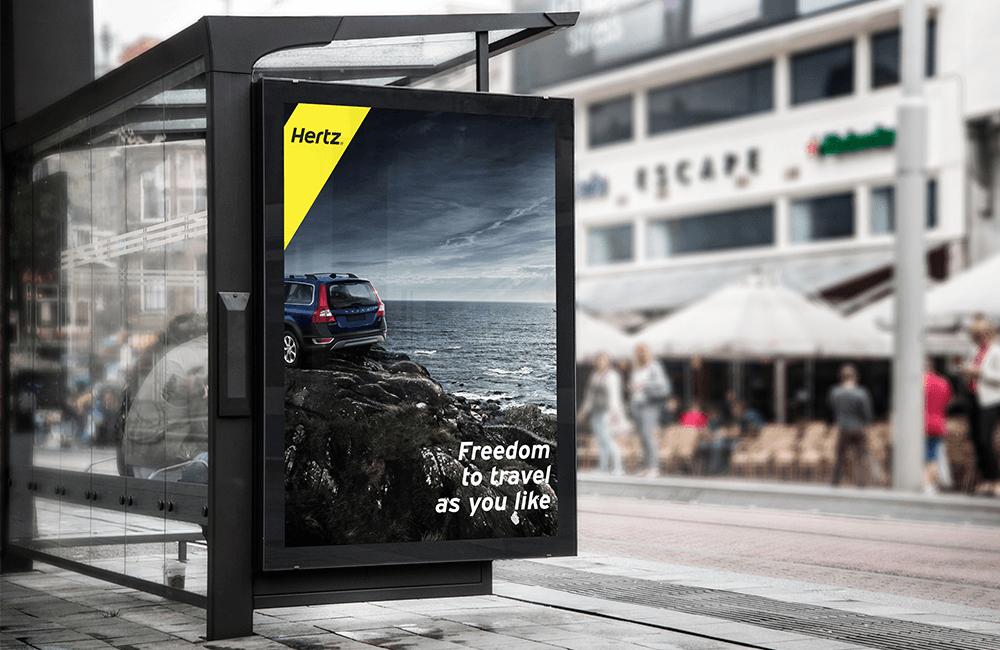 Freedom to Travel ver. 3 - Hertz billboard