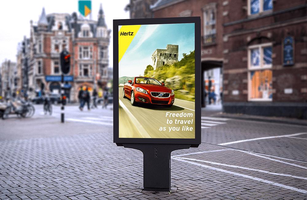 Freedom to Travel ver. 4 - Hertz billboard