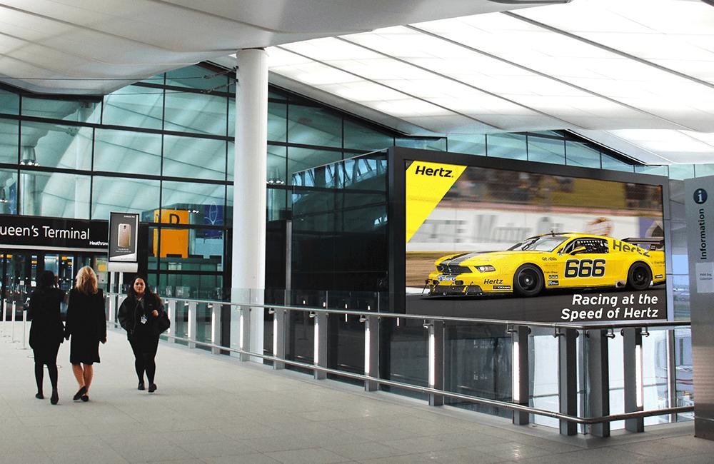 Racing - Hertz billboard