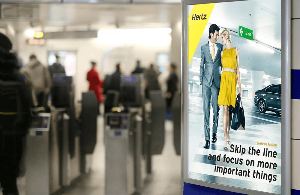 Skip the Line - Hertz Billboard