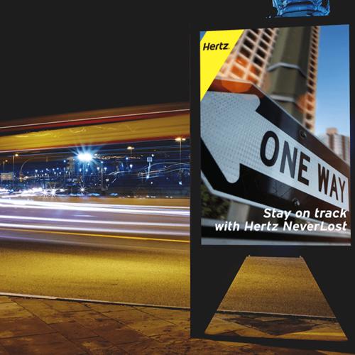 Stay on Track - Hertz Billboard