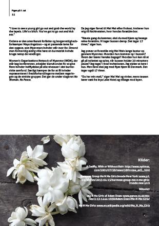 Tekstbrud på side i magasin