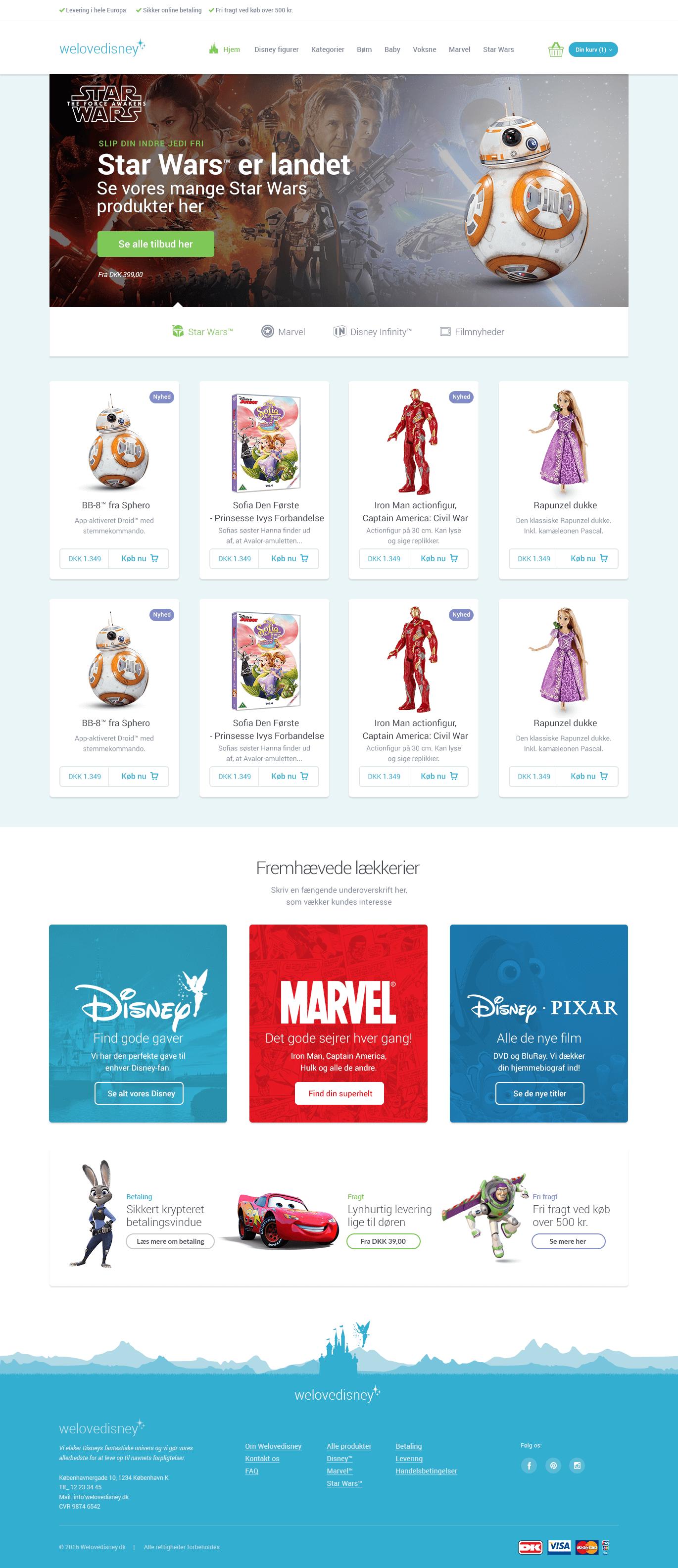 Webdesign - forside til UncleWalt