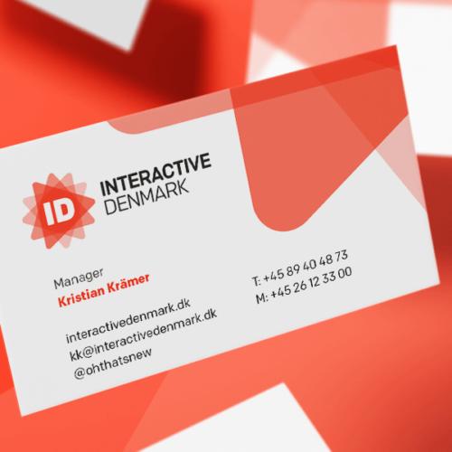Interactive Denmark, design af visitkort og postkort