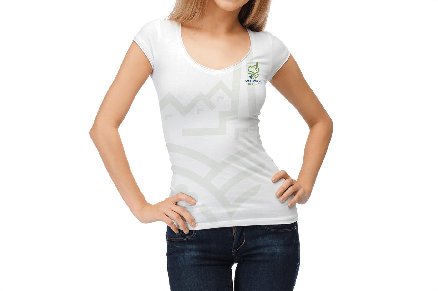 T shirt med Tommeruppernes Lokalråd