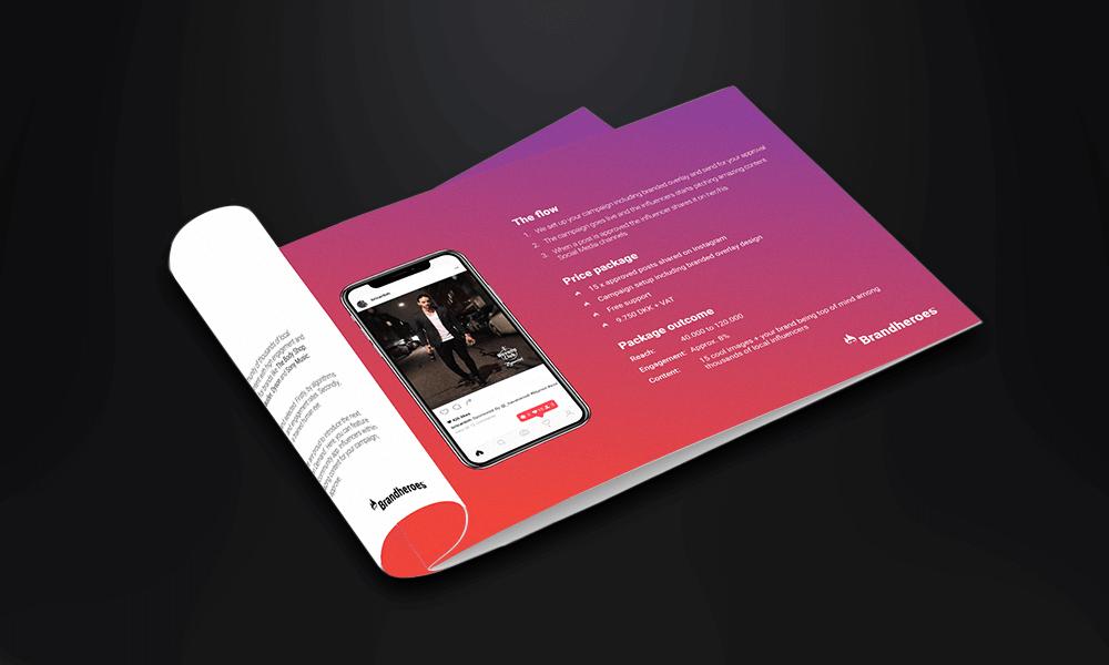 pris design brochure, flyer eller folder