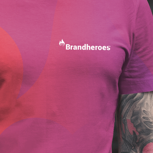 Brandheroes logodesign på t-shirt