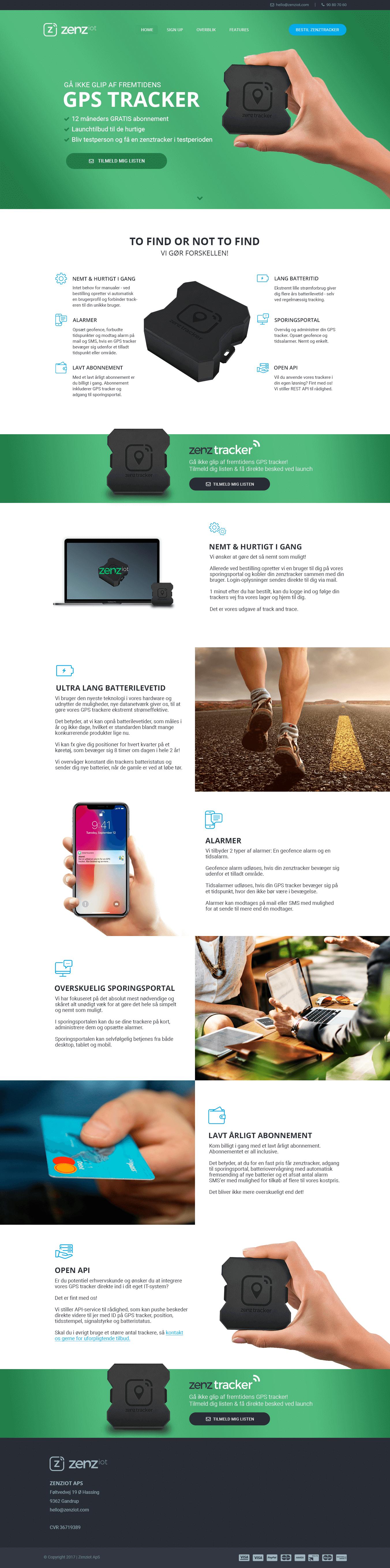 Webdesign landingpage