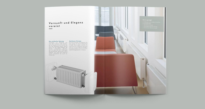 Design af brochure til Hudevad