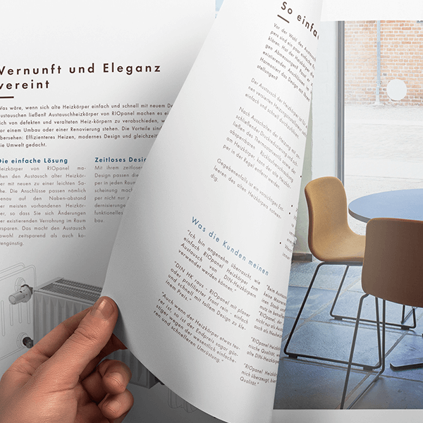 Grafisk design af brochurer og datablade til Hudevad