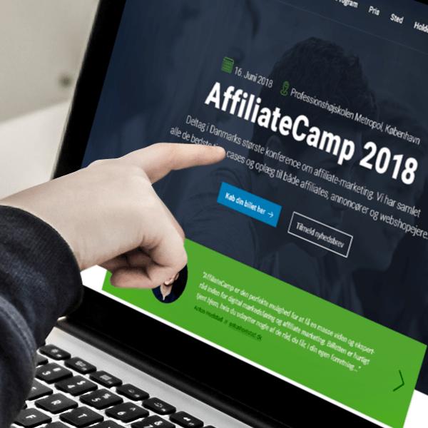 Responsivt design af website til AffiliateCamp 2018