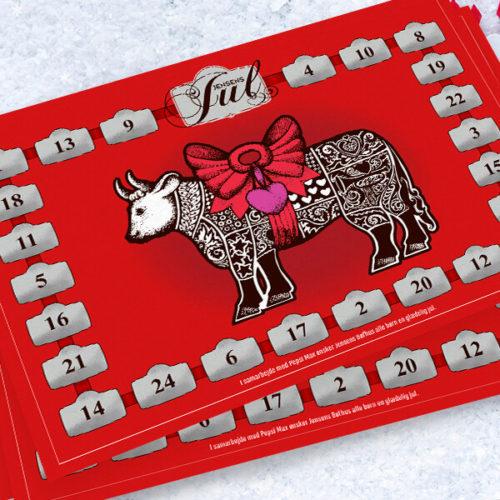 Design af skrabejulekalender til Jensens Bøfhus