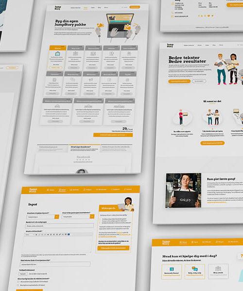 Custom webdesign til JumpStory