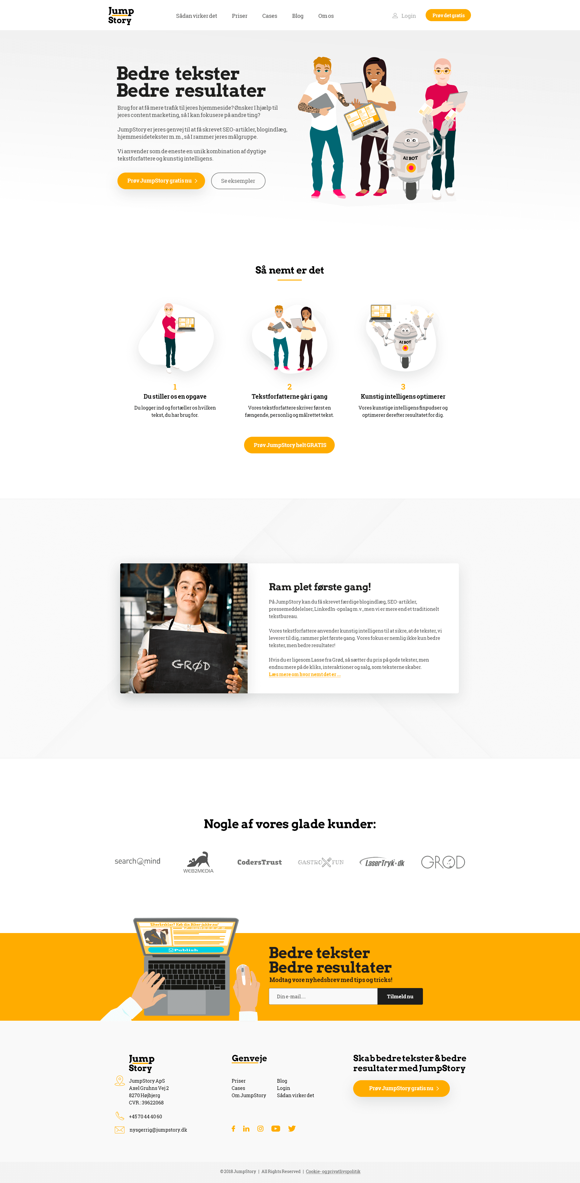 Webdesign til JumpStory