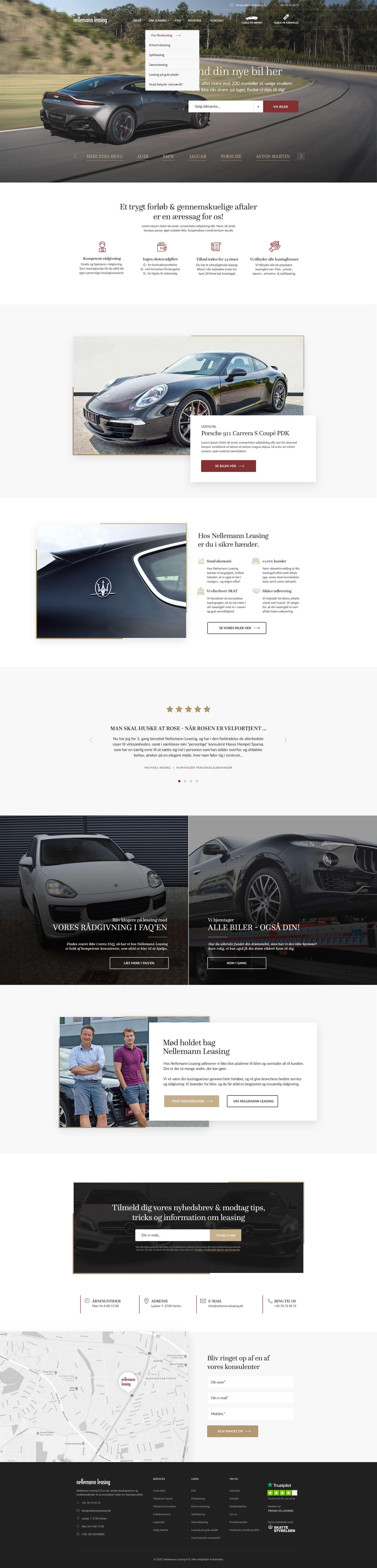 Webdesign forside - Nellemann Leasing