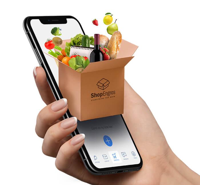 ShopEngros - design af app