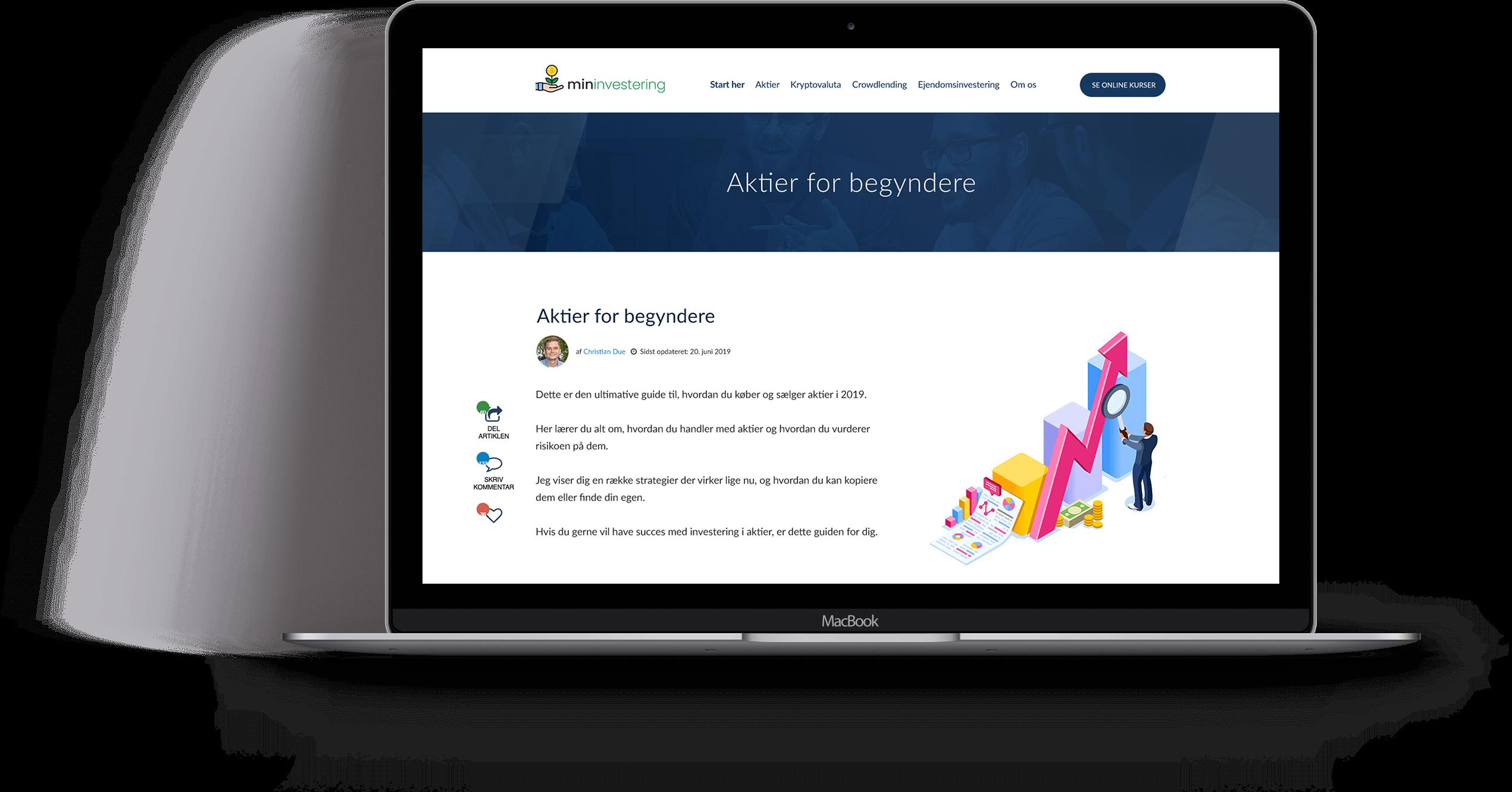 Design af artikler - Min Investering