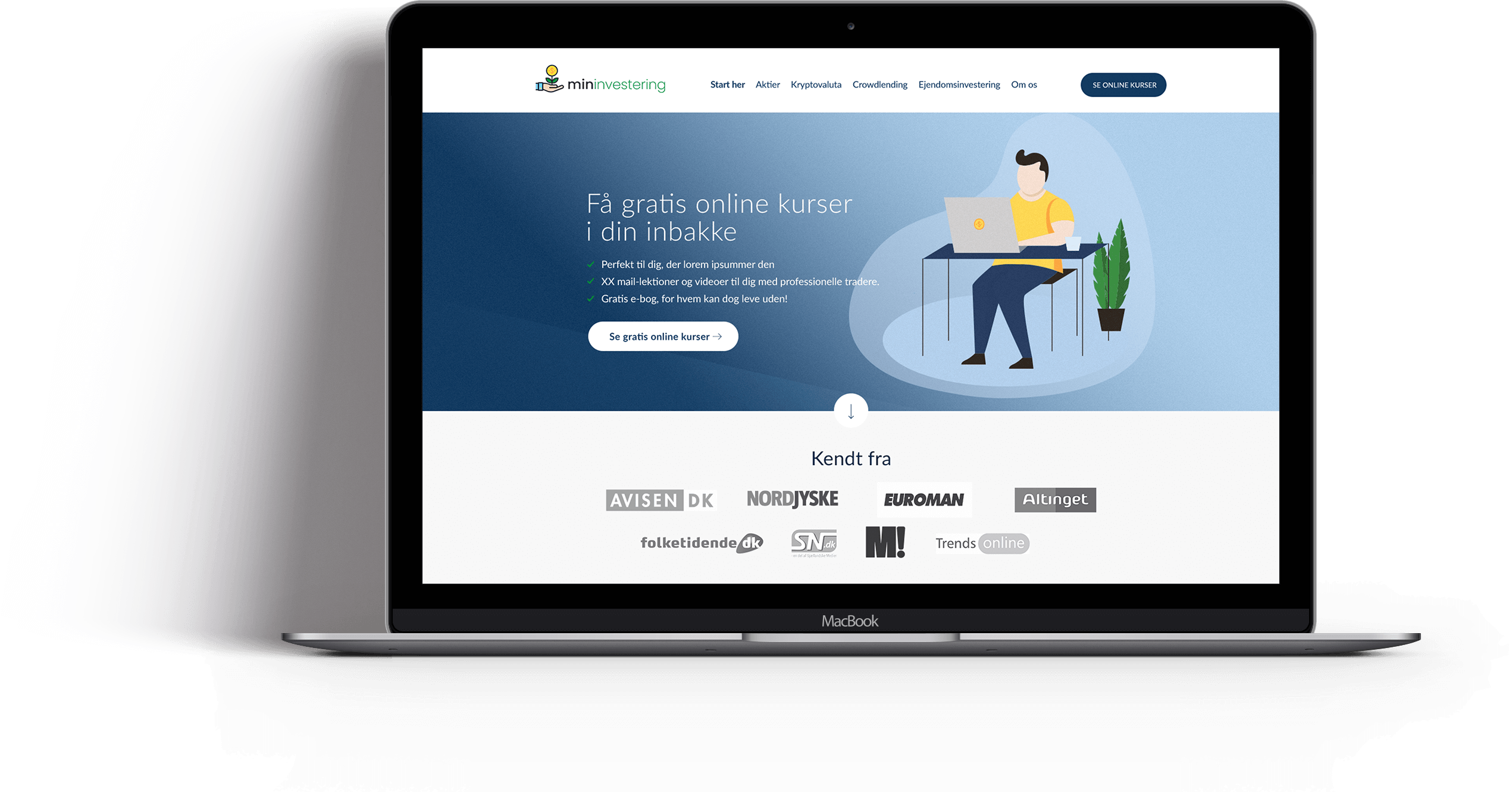 Webdesign til aktiebloggen Min Investering