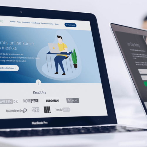 Custom webdesign til aktiebloggen Min Investering