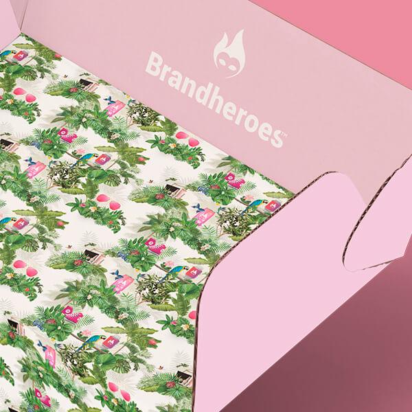 Design af gaveæske til Brandheroes