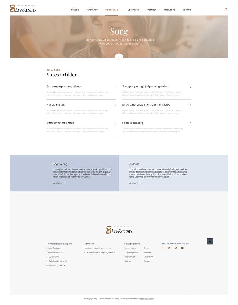 Design af udvidede navigationsmuligheder på hjemmeside