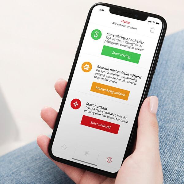App-design til iOS app til WeSafe