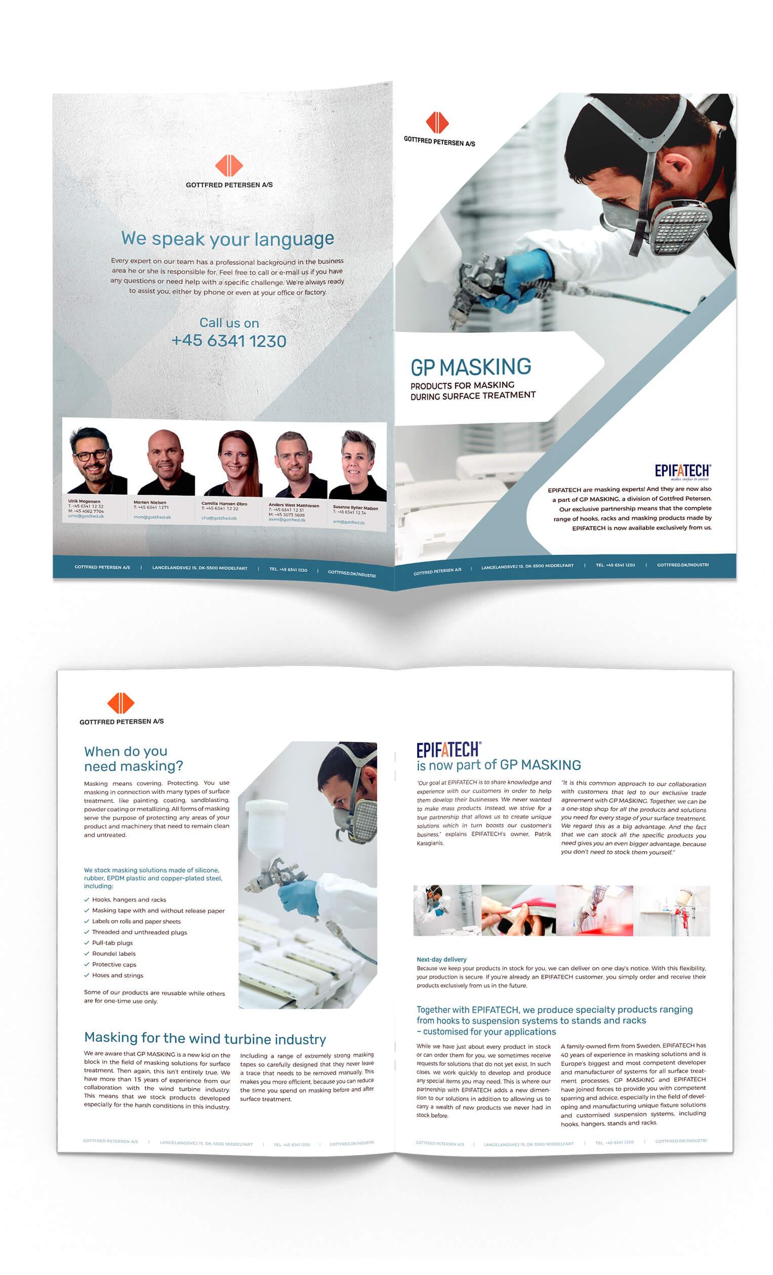 Layout af B2B brochure for Gottfred Petersen