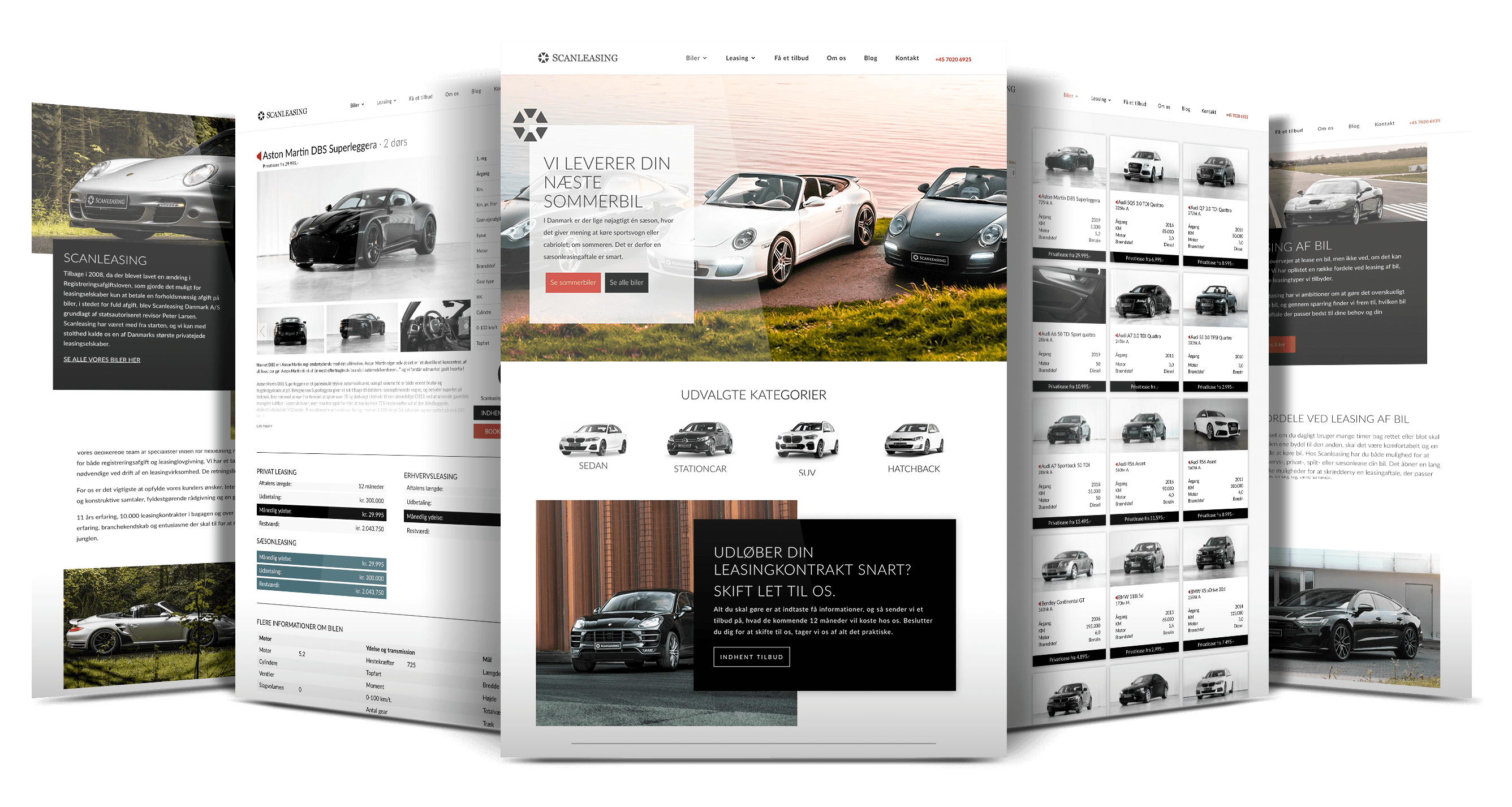 Custom webdesign bygget i Divi til Wordpress for Scanleasing