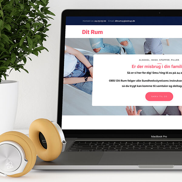 Design og udvikling af hjemmeside til Dit Rum