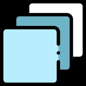3-lags mundbind af polyester og bomuld med logo