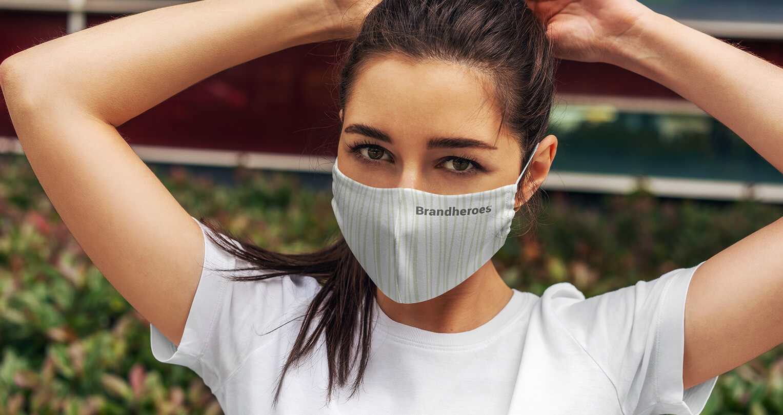ansigtsmaske med tryk og logo