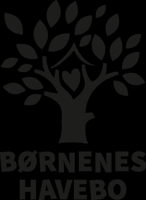 Logo til børnehave - sort version