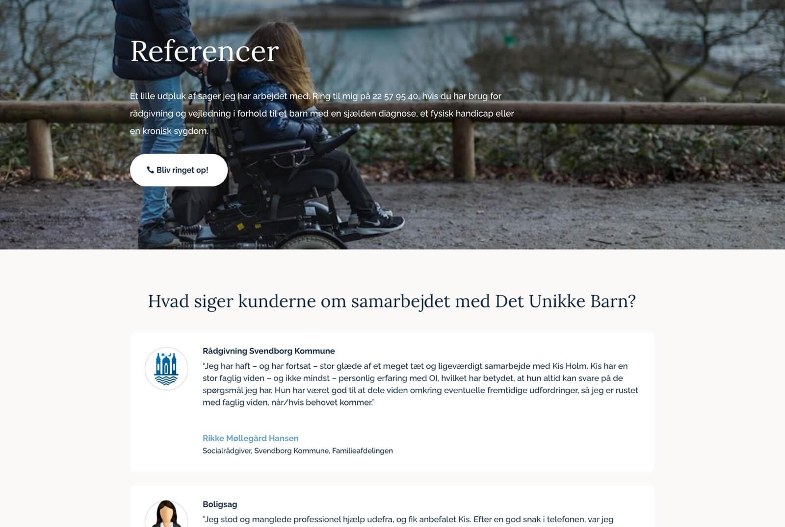 Det Unikke Barn - Redesignet referenceside