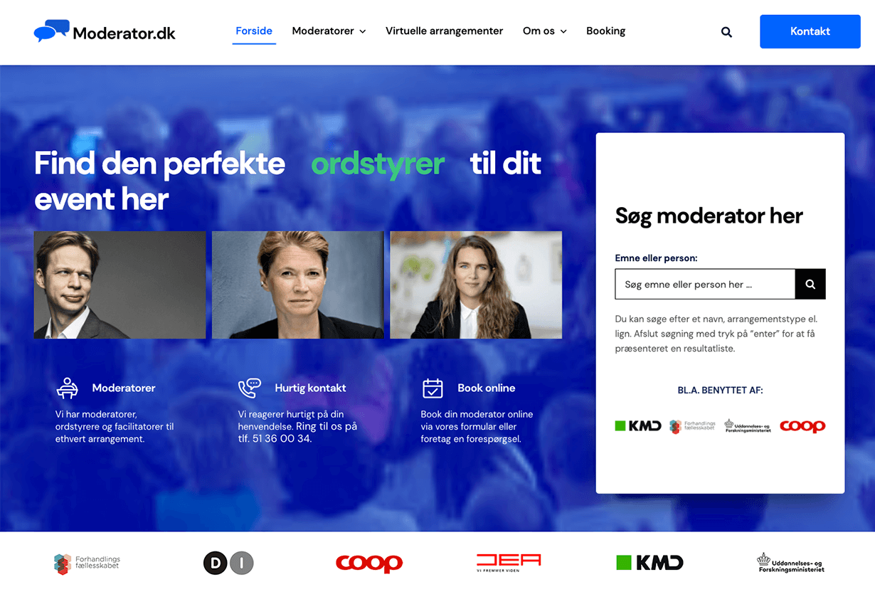 moderator forside efter redesign