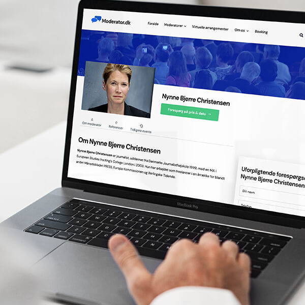 Webdesign til moderator.dk