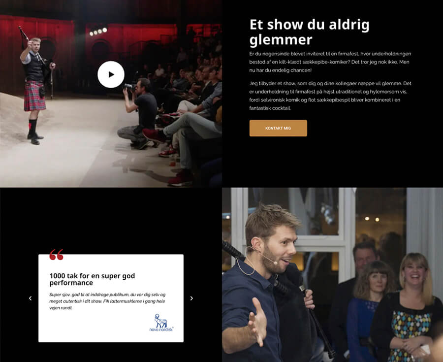 claus reiss galleri - tekst og testimonial