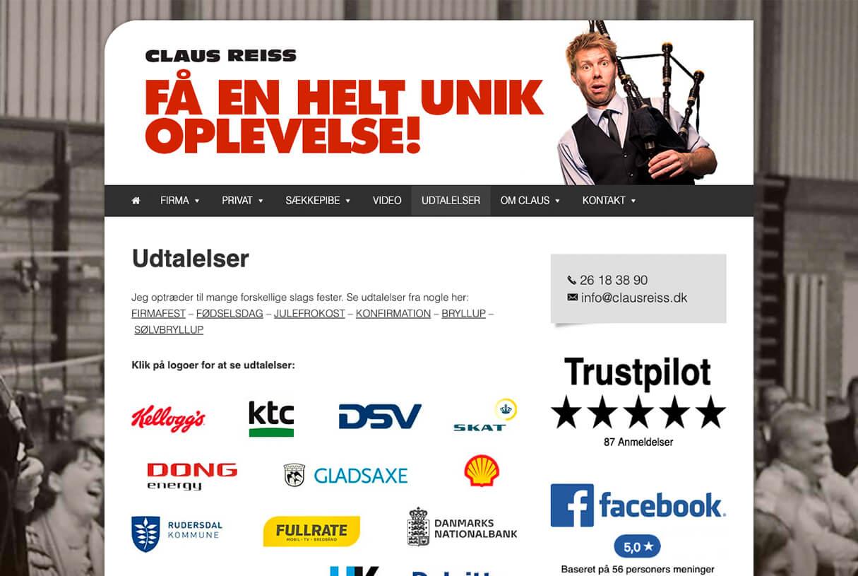 clausreiss.dk - udtalelser før